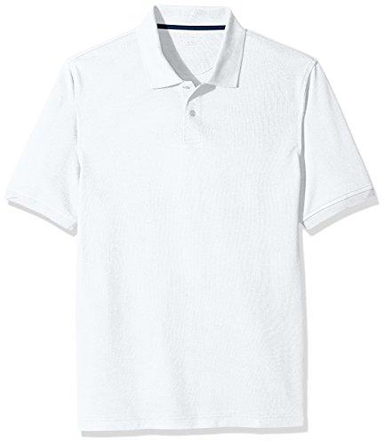 Amazon Essentials Men's Regular-Fit Cotton Pique Polo Shirt, White, X-Large