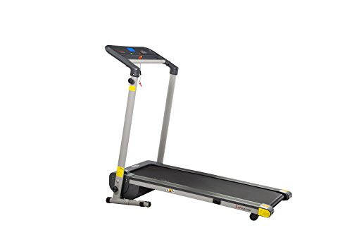 Sunny Health & Fitness Space Saving Folding Treadmill by - SF-T7632 Space Saving Folding Treadmill, Gray