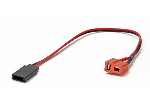 r: Deans T-Plug Female to Futaba, Receiver, Rx, Servo Male (Wires Cables Leads Plugs LiPo Battery) ()
