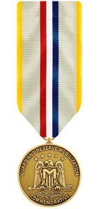 Medals of America National Guard and Reserve Mobilization Commemorative Medal Miniature Bronze