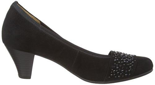 Pieds Chaussures Gabor à Noir Couvert Femme Avant Black 25482 Talons du 7wPqwY