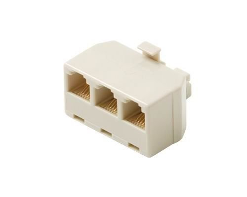 - 1 pc of 4C 3 Phone Jacks In 1 Telephone Jack Modular Adapter 3-Way Outlet Splitter Plug