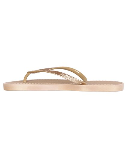 KRISP Sandalias Verano Mujer Chanclas Zapatos Flip Flop Chancletas Brillantes Dorado