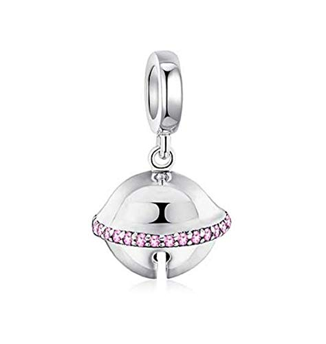 EVESCITY Stunning Quality Many Styles Silver Pendents 925 Sterling Beads Fits Pandora, Similar Charm Bracelets & Necklaces (Real Jingle Bell Dangle)