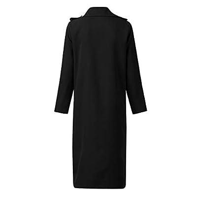 Hengshikeji Women's Solid Plus Size Long Sleeve Cardigan Drape Open Front Coat Irregular Hem Long Cardigans Outwear at Women's Clothing store