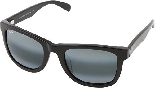 Maui Jim Legends Polarized Sunglasses Gloss Black / Neutral Grey One - Maui Wayfarer Jim