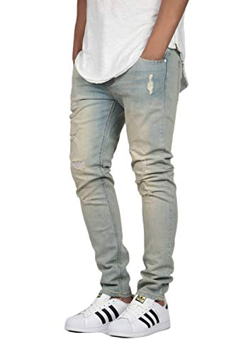 41a313169a6 KDNK Men s Stretch Destroyed Skinny Jeans (32