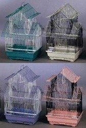 Prevue Pet Products BPV41720 4-Pack Parakeet Shanghai Pagoda House Style Cage, Large, Colors Vary