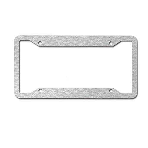 Dinzisalugg Various Types of Ethnic and Tribal Snowflakes Arrows Stars in The Cold Winter License Plate Frame Car tag Cover Aluminum Car for US Canada Standard 4 Holes and Screws ()