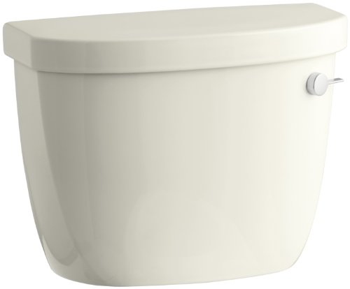 (KOHLER K-4421-UR-96 Cimarron 1.28 gpf Class Five Toilet Tank with Insuliner Tank Liner and Right-Hand Trip Lever, Biscuit)