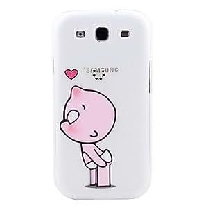 Naughty Child Pattern Hard Case with Rhinestone for Samsung Galaxy S3 I9300