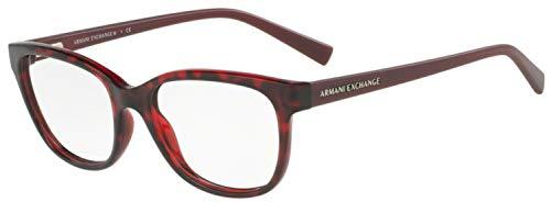 Armani Exchange AX3037 Eyeglass Frames 8205-53 - Havana Red Rhubarb