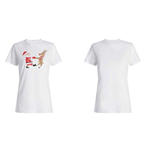 FELIZ NAVIDAD SANTA XMAS CERVEZA DIVERTIDA NOVEDAD NUEVO camiseta de las mujeres l78f