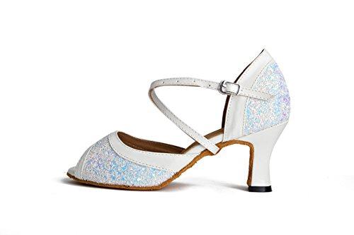 Miyoopark ,  Damen Tanzschuhe White-7cm Heel