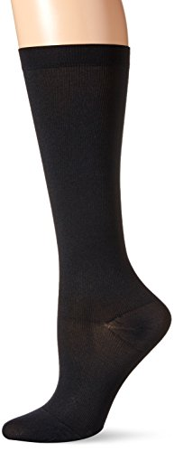 Dr. Scholl's Women's Microfiber Moderate Support Socks,  Black, Shoe size 5.5-7.5 -