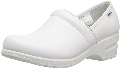 Clogs White Leather - Cherokee Women's Harmony Step-In Padded Collar Shoe