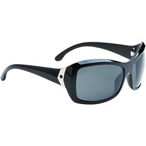 Spy Optic Womens Farrah 673011062035 Polarized Round Sunglasses,Black Frame/Grey Polarized Lens,One Size