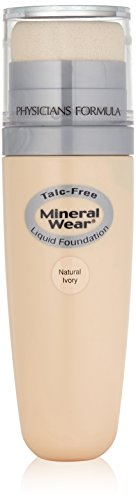 Physicians Formula Mineral Wear Talc-Free Mineral Liquid Foundation, Natural Ivory, 1 Ounce
