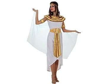 Atosa-70050 Disfraz Egipcia, color blanco, X l (70050)