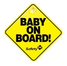 safety 1st baby on board sign - 3