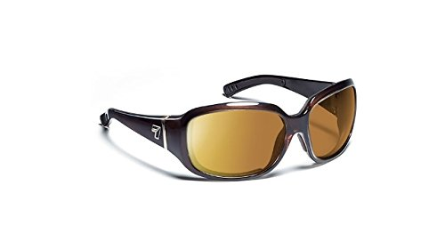 7eye by Panoptx Mistral Frame Sunglasses with Gray Lens, Chocolate Crystal, - Panoptx Sunglass