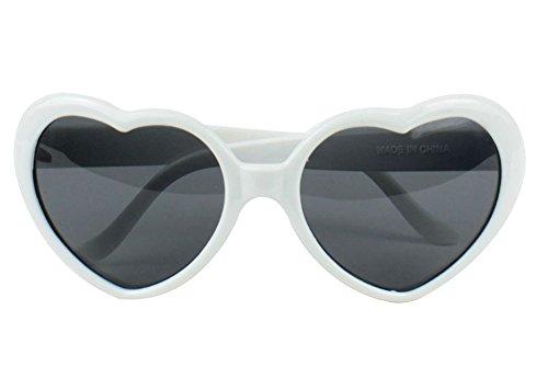 de Nouveaux de mode Lunettes coeur soleil Blanc Lunettes Lolita forme 0w6qqvRxT