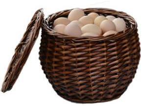 YUANSS Rattan Storage Basket Wicker Shopping Basket Bamboo Egg Basket and Fruit Basket
