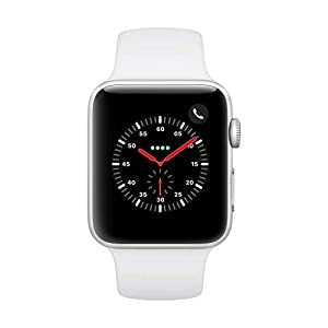AppleWatch Series3 (GPS+Cellular, 42mm) – Silver Aluminium Case with White Sport Band
