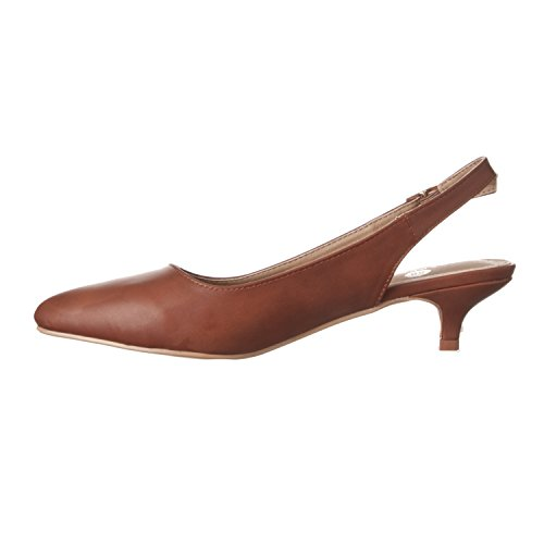 pu Low Heels brown Riverberry Pump Pointed Toe Back Sling Bella Women's Height wUpxOfT