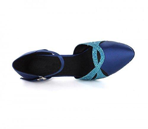 TDA - Sandalias con cuña mujer 6cm Dark Blue