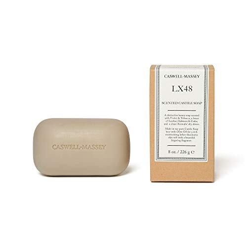 Caswell-Massey LX48 Oversized Saddle Castile Soap Bar - Natural Bath Soap With A Masculine Cedarwood Fragrance - 8 Oz