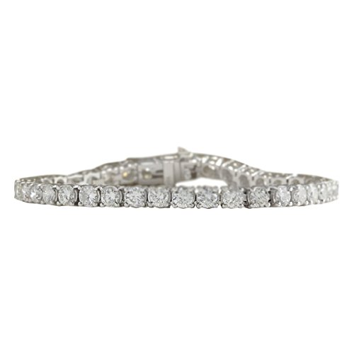 10 Carat Natural Diamond (F-G Color, VS1-VS2 Clarity) 18K White Gold Luxury Tennis Bracelet for Women Exclusively Handcrafted in (18k Vs1 Bracelet)