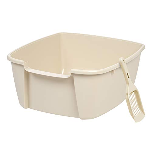 IRIS Jumbo Litter Box with Scoop, Almond