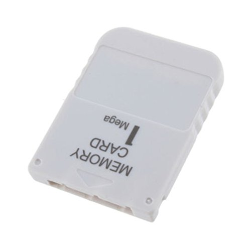 Kasstino 1MB 1 MB Memory Card for Sony Playstation One 1 PS1 PS2 PSX Game MEM Card White