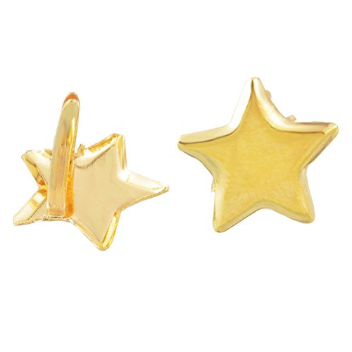 Souarts Gold Color Star Mini Brads for DIY Scrapbooking Embellishment Pack of 50pcs by Souarts (Image #1)