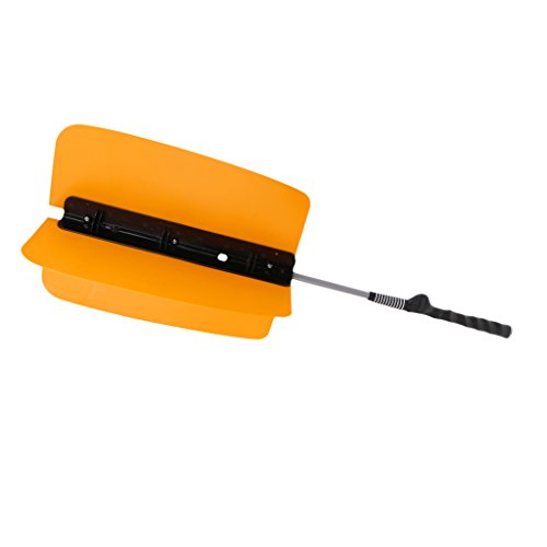 Golf Swing Fan Trainers Practice Grip Guide Training Aids Equipments for Golf Players - Orange