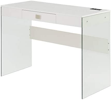Convenience Concepts SoHo Glass Desk