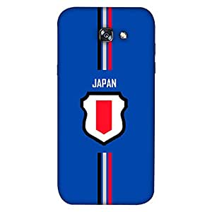 ColorKing Samsung A5 2017 Football Blue Case shell cover - Fifa Japan 01