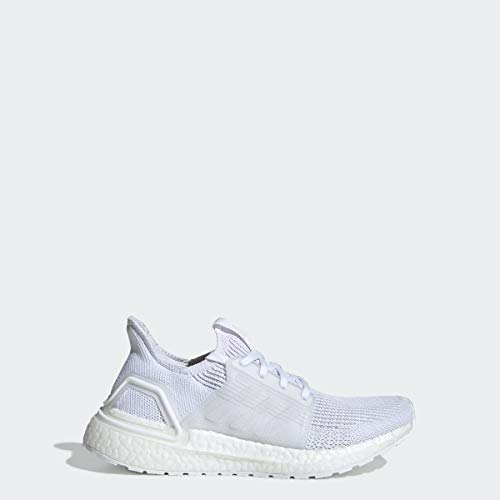 adidas Unisex Ultraboost 19 Running Shoe, White/Grey, 7 M US Big Kid