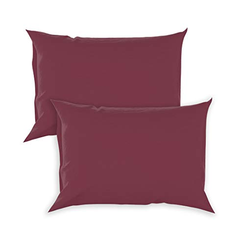 College Colors Pillowcases 100% Brushed Microfiber, Hypoallergenic Pillow Cover - Dorm Bedding Soft, Stain, Fade and Wrinkle Resistant (Standard 20x30 - 2 Pack, Maroon PMS 195)