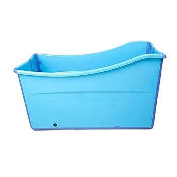 Image of Weylan tec Large Foldable Bath Tub Bathtub For Baby Toddler Children Twins Petite Adult Blue Baby