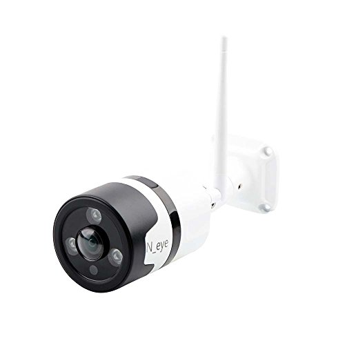 HD 1080P Home Security Camera Intelligent Alarm Motion Detection Support up to 128GB SD Card Wireless Camera Wifi Home Outdoor Mobile Phone Infrared Night Vision Indoor 360° Panorama(White) by N_EYE