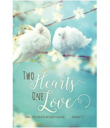Standard Bulletin 11 - Wedding - Two Hearts One Love (Pack of 100)]()