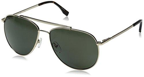 Lacoste Men's L177SP Polarized Aviator Sunglasses, Gold, 59 - Sunglasses Polarized Lacoste
