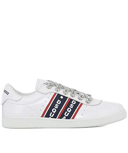DSQUARED2 Men's Snm0020065004491062 White Leather (Dsquared2 White Leather)