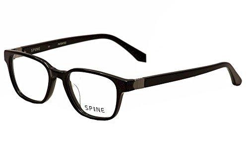 Spine Eyeglasses SP1003 SP/1003 001 Black Full Rim Optical Frame 49mm by - Mall Pacific Eyeglasses