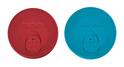 Lid Turquoise (Tervis Travel Lid for 24 oz Tumbler and Mug, Turquoise and Red 2-Piece Set)