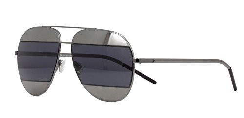 New Christian Dior SPLIT 1 KJ1IR Grey/Blue Grey Aviator Women's - Split Dior Sunglasses