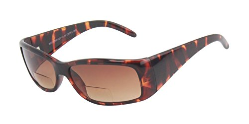 Rodeo i3x Traveler Bi focal Wayferer Wrap Sun Reader Sunglasses (Tortoise, - Lightly Tinted Prescription Glasses Non