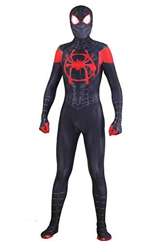Superhero Costume for Men and Boys. Halloween Spandex Zentai Bodysuit. (Kid's XL) Black